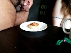 Zen_poptart Slurps A Spunk Decorated Cinnamon Flip | Fetlife Spunk Food Slow Motion
