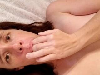 pierced MILF fingers herself + dirty talking for daddy & tasting her cum!