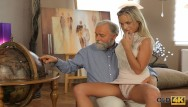 Suck old man cock Old4k. angel-face sucks big cock and gets it in her sissy