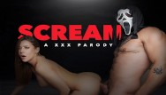 Latex mask movie - Ghostface mask makes teen babe sybil a scream for a big cock