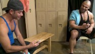 Clip gay latino - Menover30 - two hunks match on grindr in locker room
