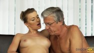 Old man stripper Daddy4k. beautiful sexy lady has hot sex with old man on his giant villa