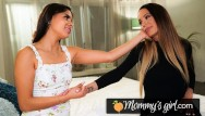 Free lesbian girl on girl Squirt madness with katya rodriguez and her stepmom - mommysgirl