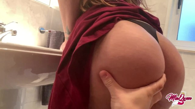 She never can resist a quickie creampie before going to work