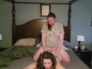 Hot milf gets fucked from behind