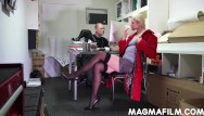 Big tit biss Cnfm german boss bosses her staff around for hot sex