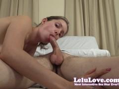 She Sucks His Big Cock Then Rides Closeup Booty Feet Feet Sight - Lelu Love
