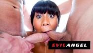 Jenna blowjob Evilangel - jenna foxx face fucked by 2 white dicks