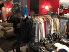 Risky Public Sex In Japanese Clothing Store With Tsubasa Hachino