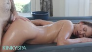 Erotic massage spas Kinky spa - lana violet milks cock durring massage