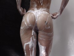 Secretcrush4k - Soapy Round Donk & Brilliant Boobies Teenage Jerking In Shower