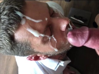 Employee of the year gets a massive facial