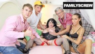 French family gangbang Uncle brings gf to meet the family