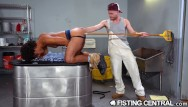 Gay freestyle - Fistingcentral - janitor teaches new guy not to step on his clean floor