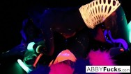 Pussy willows light - Black light fun night with abigal ava