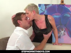 Stepmomwithboys - European Big-chested Blonde Super-hot Mature Nails Stressed Stepson