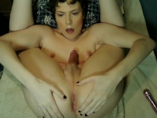 Jessica Bloom Sucking her own Cock & Edging