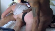 Amature adult swinger videos Busty amateur fucking two dicks at once in interracial threesome