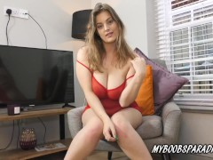 New Model On Myboobsparadise Lottie Rose Oiled Her Phat Natural Boobs