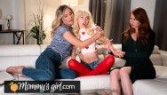 Lesban threesome Kenzie reeves step-mothers team up to fuck her - mommysgirl