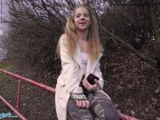 Public Agent Cute Teen Sabrina Spice Gives Amazing Blowjob In Forest
