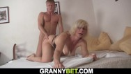 Blonde busty young Busty mature blonde takes it from behind
