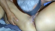 Cum-eating milfs My husband went crazy. he eats his own cum from my pussy.