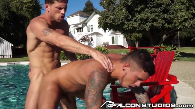 FalconStudios - Seth Knight's Ass Eaten & Devoured In Pool