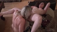 Blonde horny lesbian Horny lesbian swingers shooting pool and licking each others wet pussies