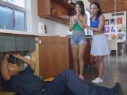 BANGBROS - College Sluts Amara Romani & Izzy Belle Share Big Black Cock