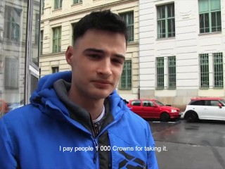 Czech Hunter – Horny Dude Takes Big Cock Up His Virgin Ass For Extra Cash