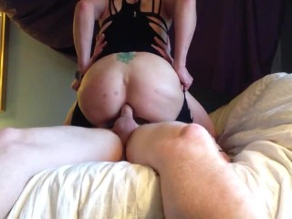 Riding hard taking it in my tight little asshole.  I'm a dirty slut now