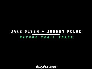 Boyfun – Twinks Jake Olsen And Johnny Polak Blowing Outside Then Fucking