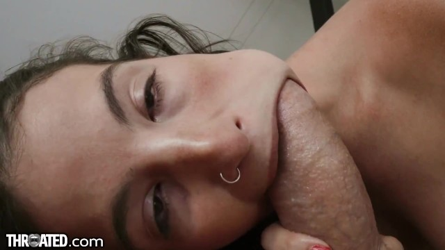 Throated - Latina MILF Slurps & Swallows Cock Whole