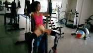 Super sexy ab workouts Risky no panties exercises at public residential gym naked gym workout: