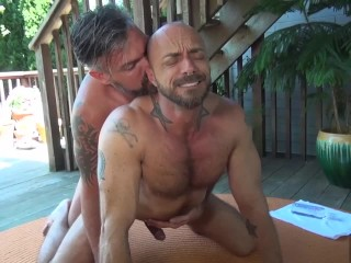 Hunk Jessie Colter Rimmed And Fucked by Hung Uncut Daddy