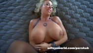 Big tits blonde milf Cum swallowing queen gets fucked and eats loads