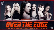 Oblongs on adult Angela white hosts over the edge jerk off edging challenge - adult time