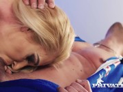 PRIVATE com - Curvy Cougar Ginger Devil Plays With Balls & Milks A Cock!