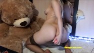 Amateur webcam superb Spicy brunette bongacams girl cums from anal penetration