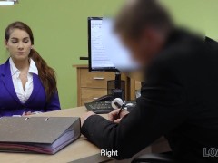Loan4k. Unemployed Young Honey Comes To Loan Agency And Gets Dirty