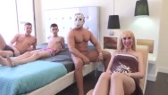 Worlds first pregnant orgy Pregnant milfs fantasy is being gangbanged by 3 cocks