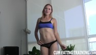 Eat my cum compilation Cei femdom and cum eating fetish videos