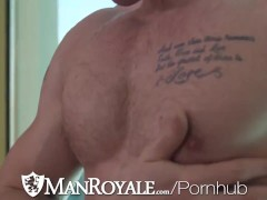 Manroyale Homo Pride Booty Tearing Up With 2 Muscle Hunks