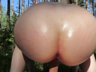 Cute Tight Pussy Teen Rides a Cock And Swallows a HUGE Load In Public Place