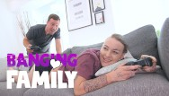 In the family sex videos-all Banging family - video games playing step-sister fucked hard