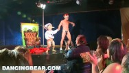 Club transvestite Dancingbear - strip club debauchery, cfnm style