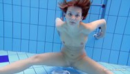 Adult swimming lesson Underwater swimming indoor pool sexy babe zuzanna