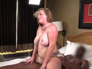 Busty Phat Strawberry Hot Blonde Is Surprised & Gets Her 1st Big Black Cock!