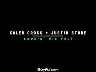 Boyfun – American Bottom Justin Stone Takes Big Cock Of Twink Kaleb Cross